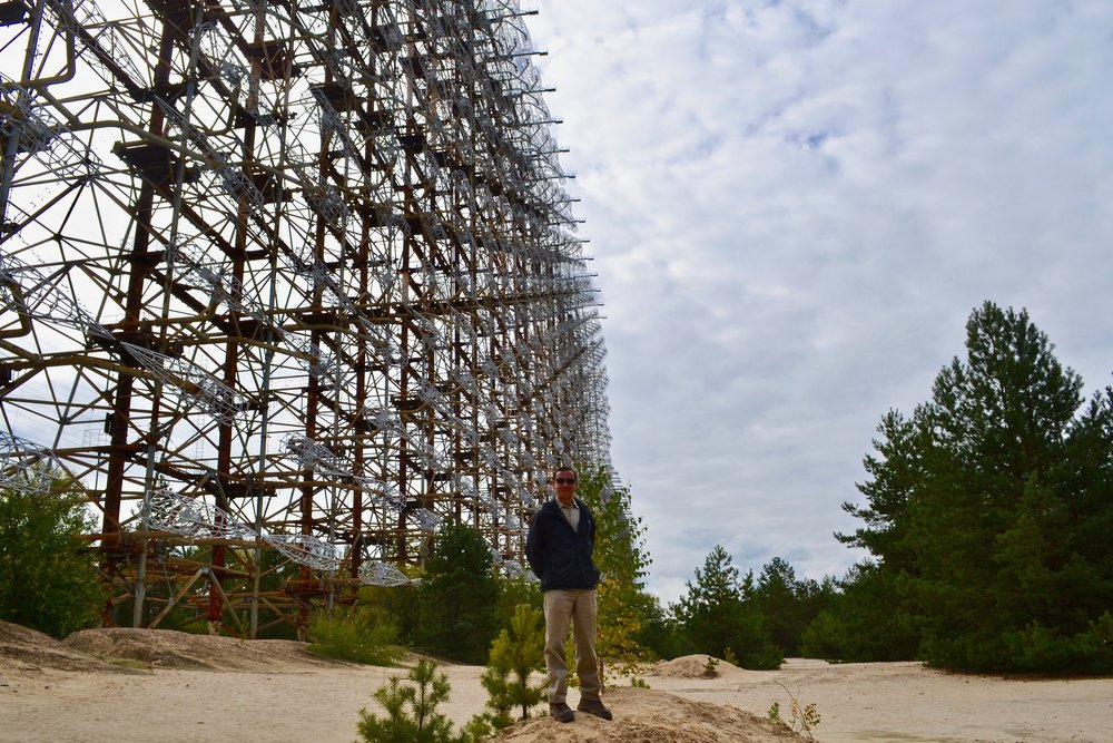 Standing in front of the Duga Radar