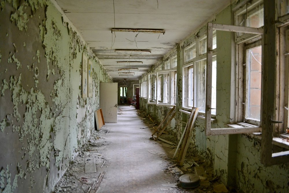 Pripyat School Hallway