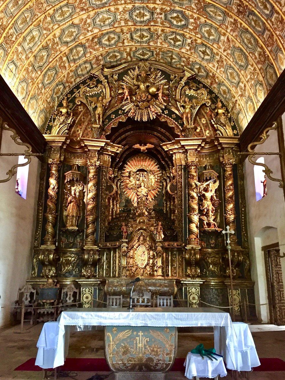 Church Altar in Yaguarón