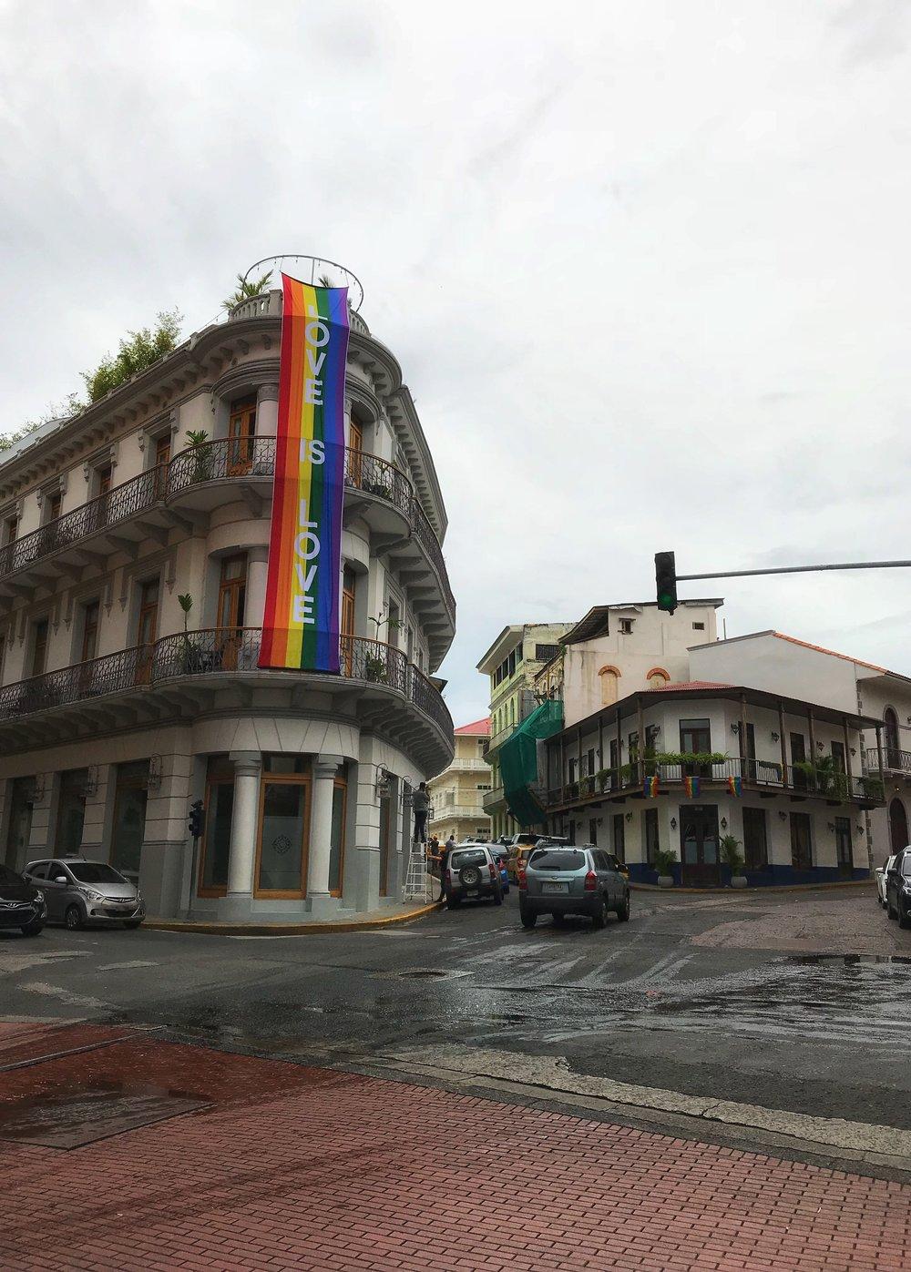 Pride Flag in Panama City, Panama