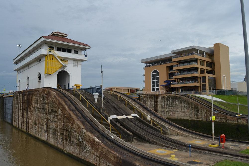 Leaving the Miraflores Locks