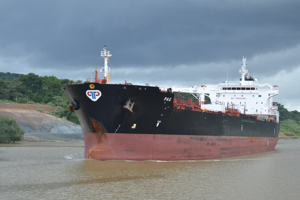 Oil Tanker on the Panama Canal
