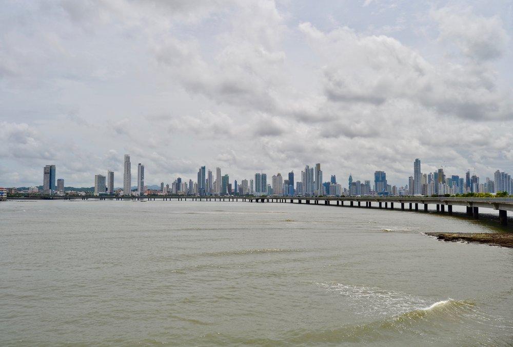 Panama City skyline from Cinta Costera