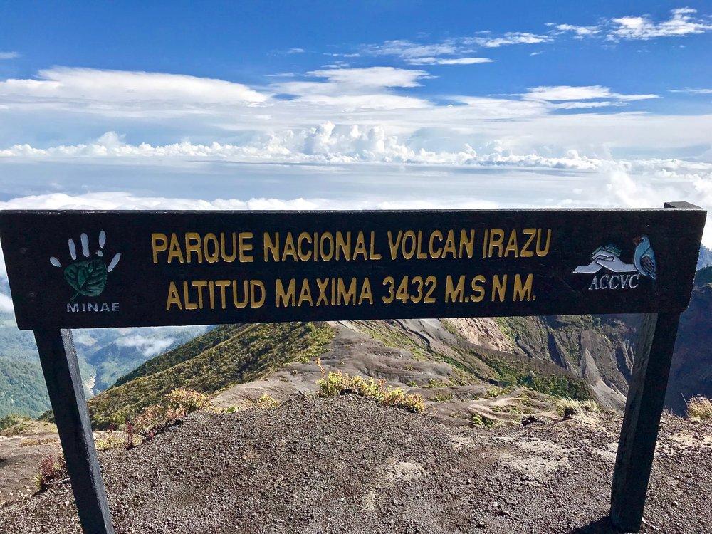The summit of Irazú Volcano