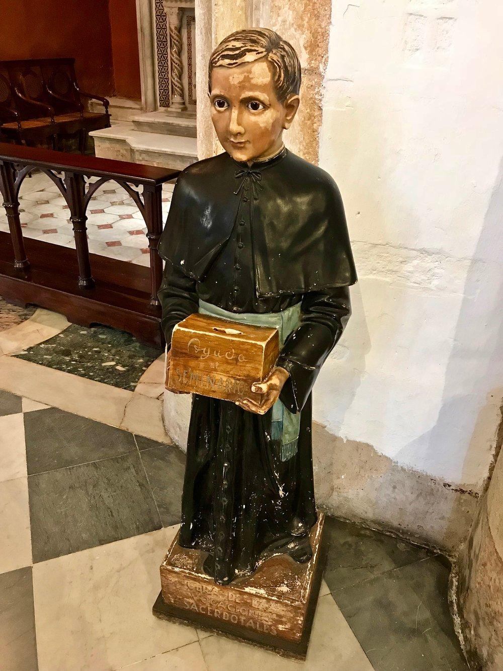 Seminarian Statue
