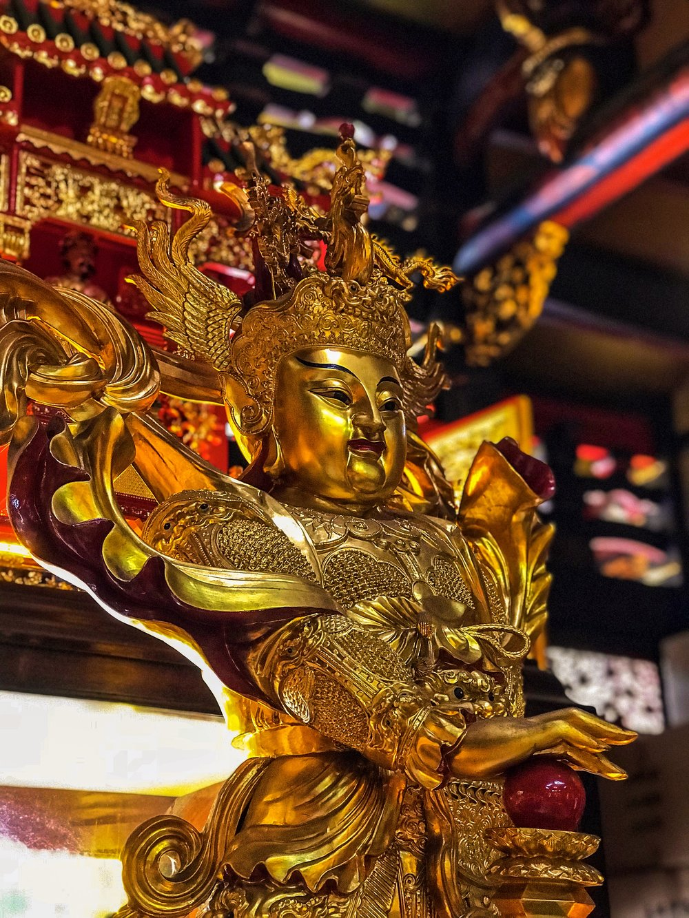 Chinese Temple God in Singapore