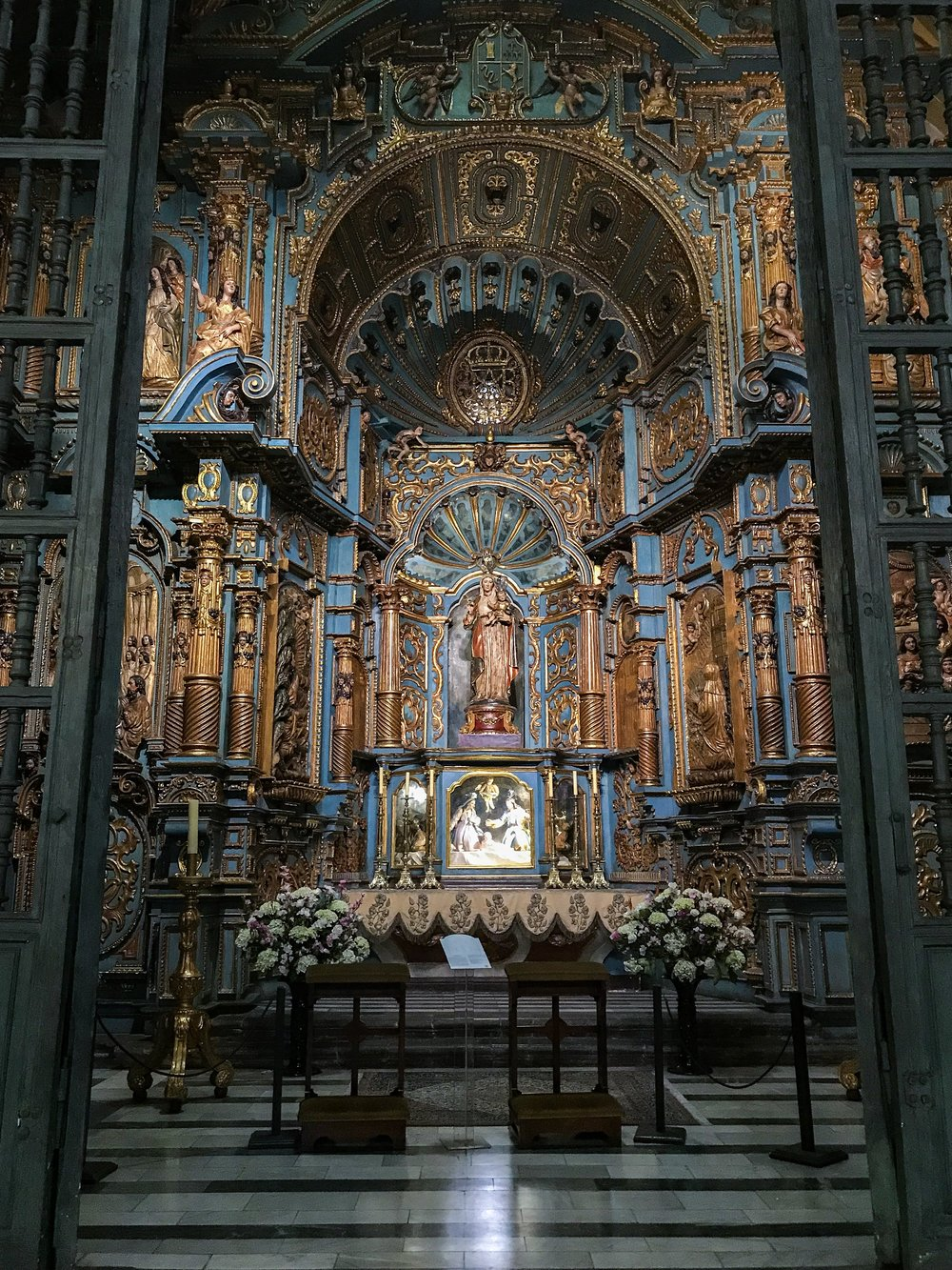 Lima Cathedral Side Chapel.JPG