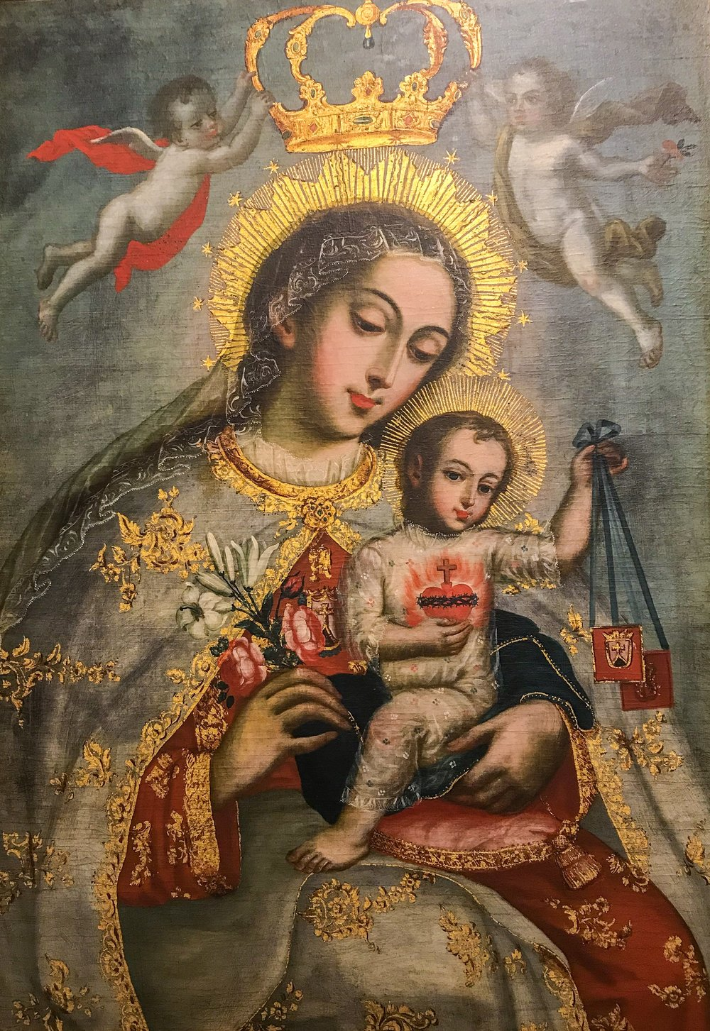 Virgin and Child with Scapulars