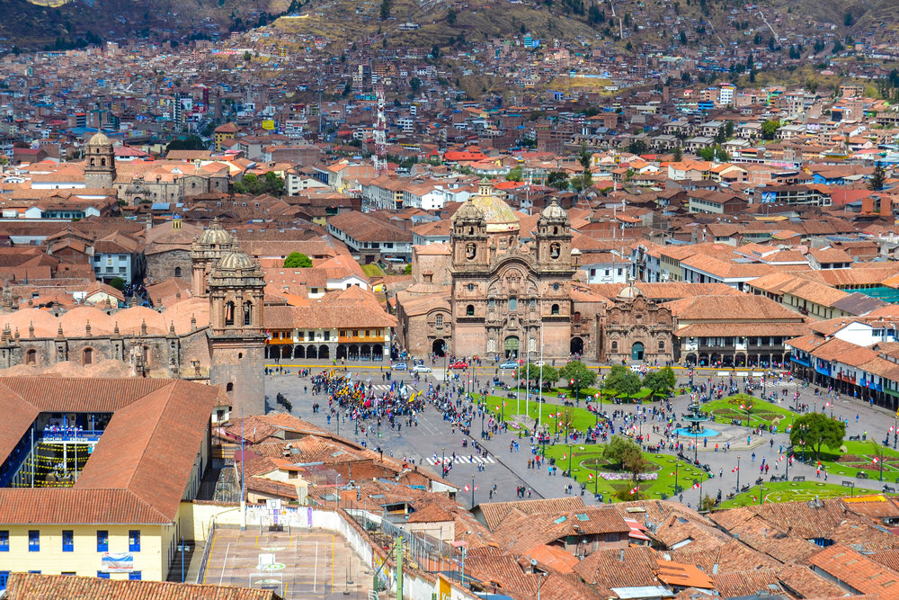 View of Plaza de Armas from Saint Christopher