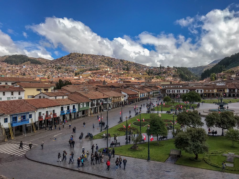 View of Plaza de Armas in Cusco