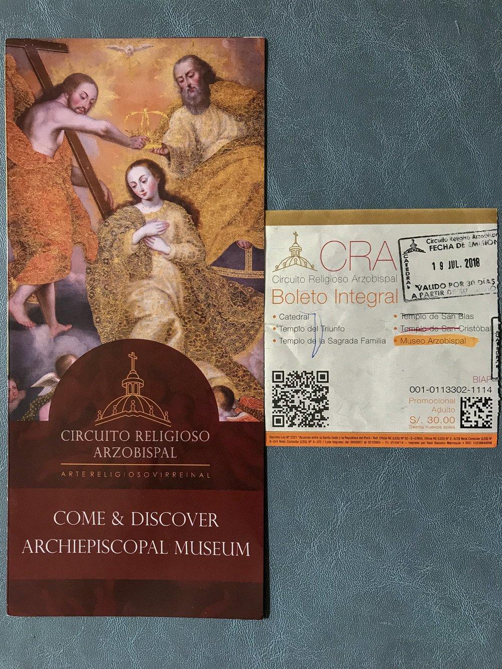 Circuito Religioso Arzobispal Ticket