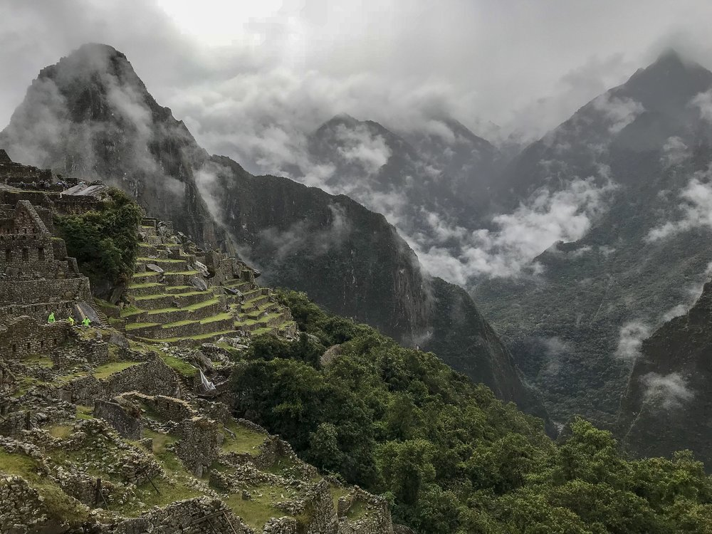 Machu Picchu and Mountains