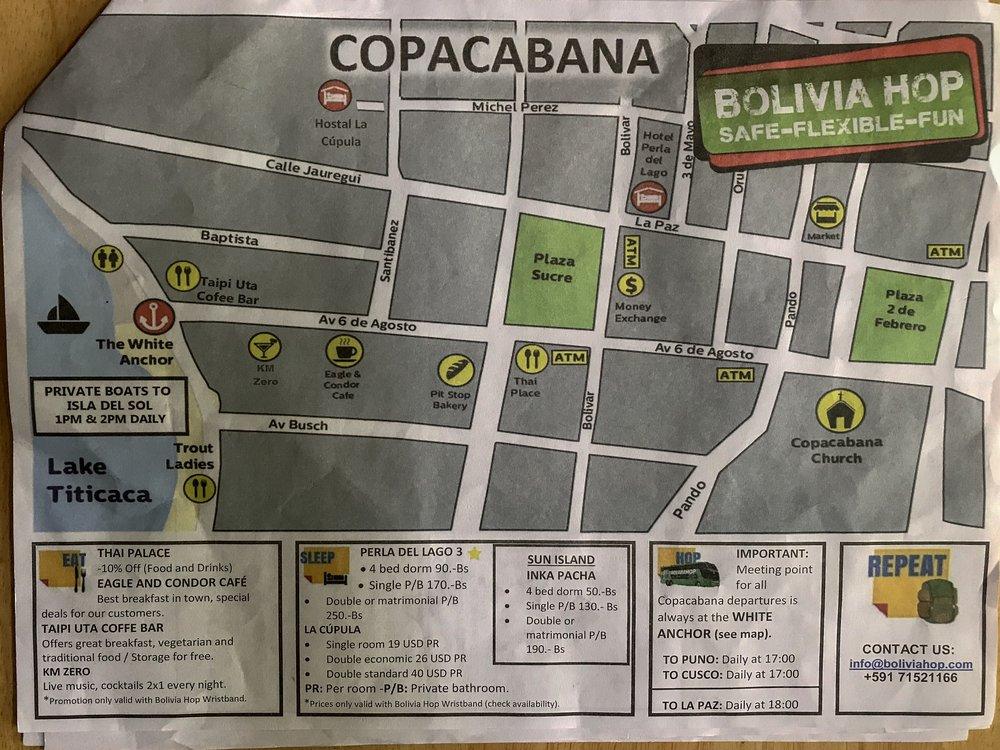 Map of Copacabana