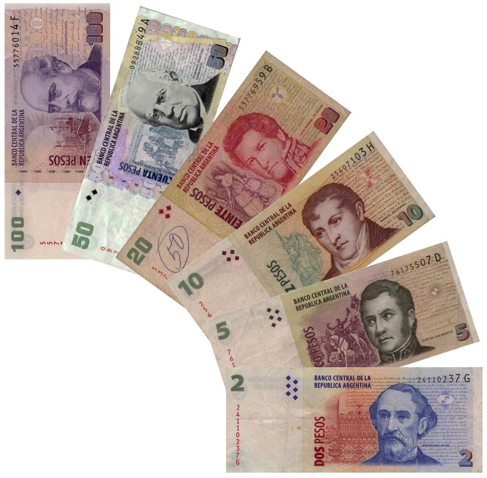 Argentine peso banknotes