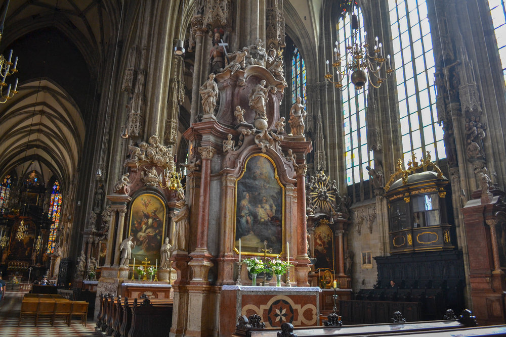 Altars in St. Stephen's Cathedral
