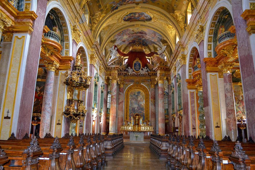 Jesuit Church Interior in Vienna
