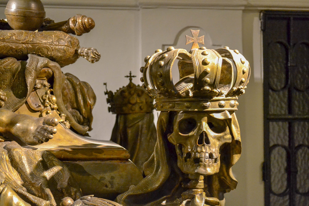 Skull with Holy Roman Empire Crown