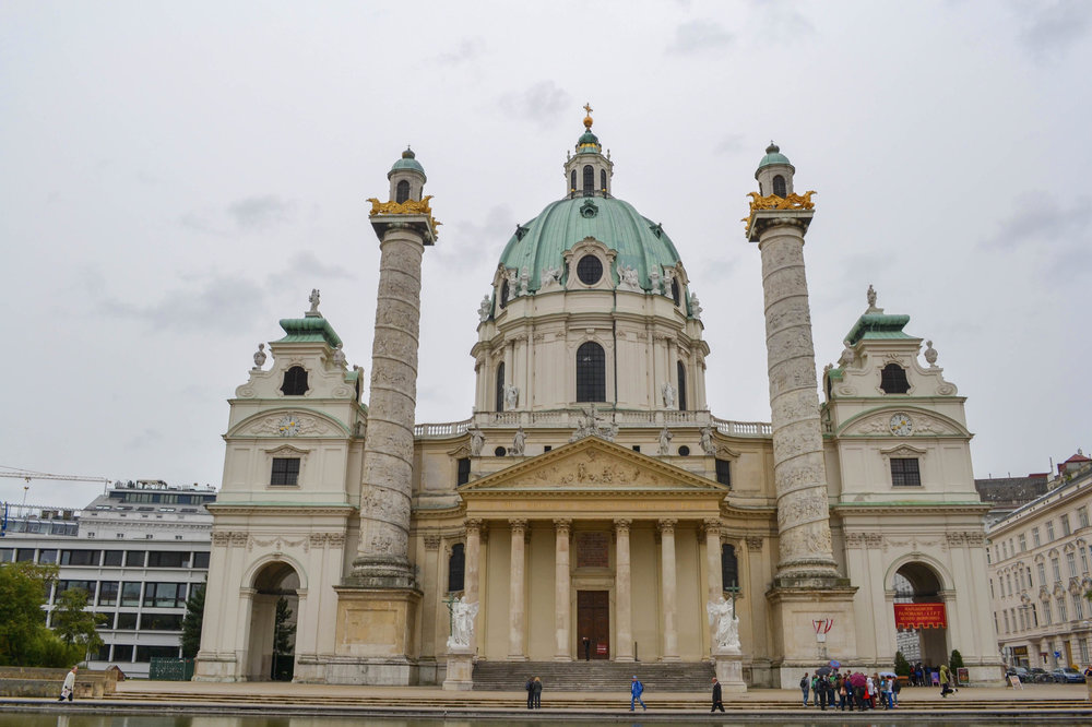 Exterior view of the Karlskirche