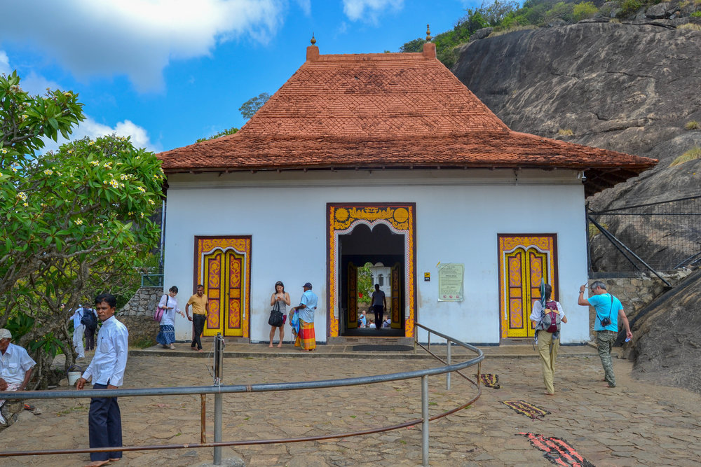 Dambulla Cave Temple Entrance