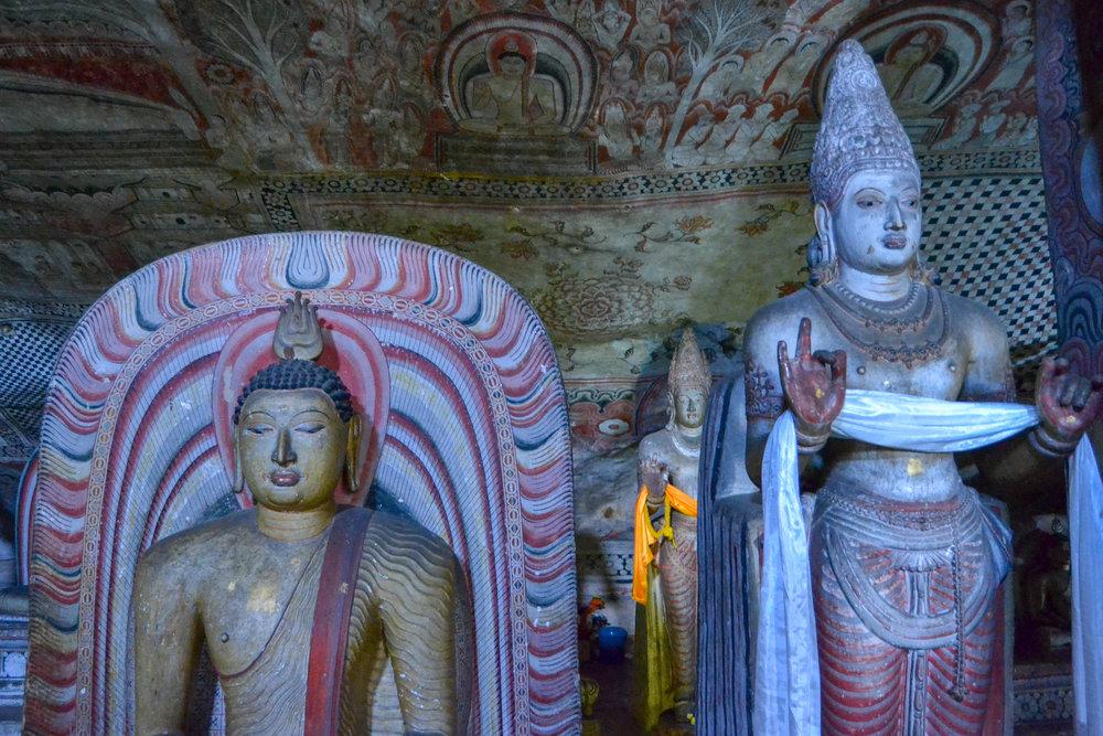 Dambulla Cave Temple Statues