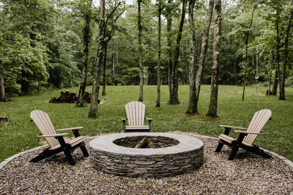 Fire pit in Solebury, PA