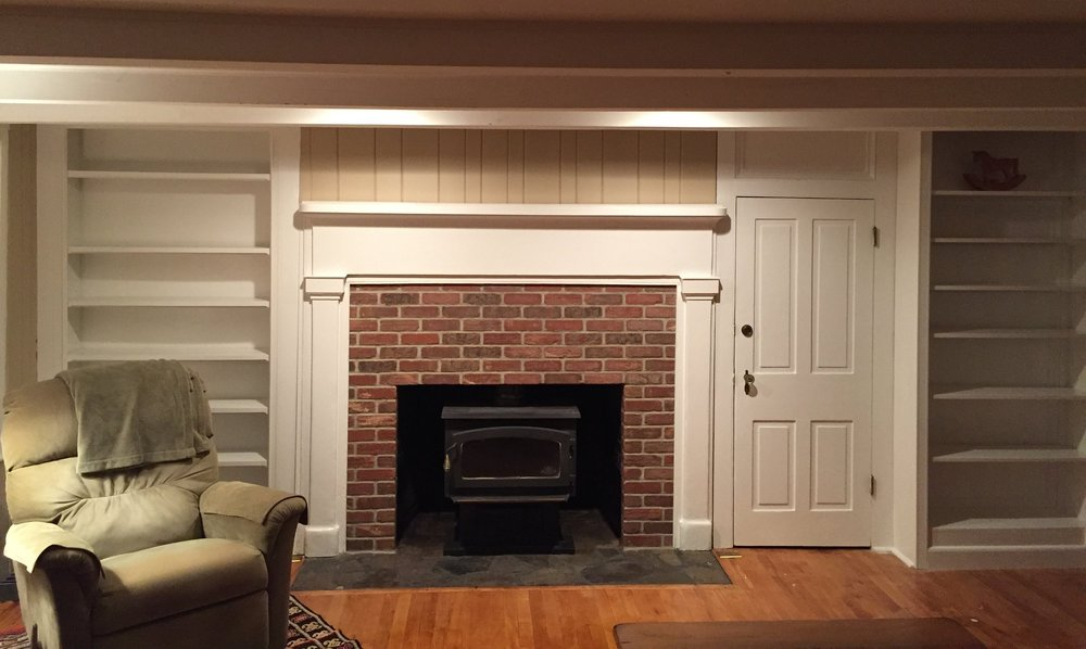 Brick Veneer Fireplace in Clinton, NJ