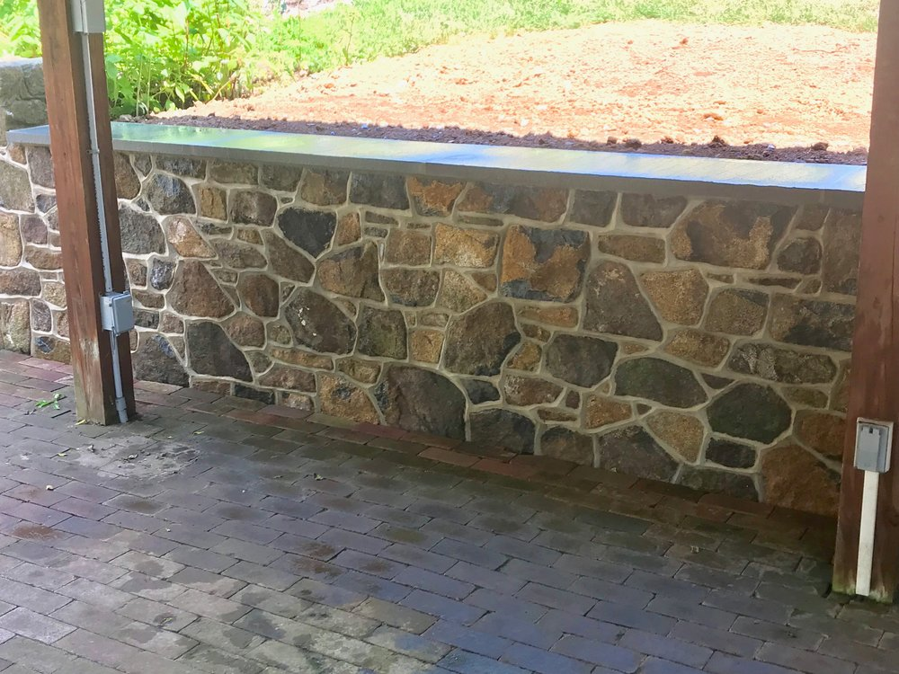 stone retaining wall in new hope, pa