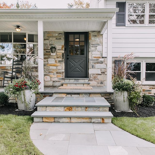 Click the link in our bio to check out the process for our front walkway and porch transformation!