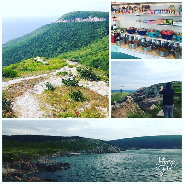 Great day on #CabotTrail with @jolord exploring #capesmokey, #whitepoint and making 3 coffee stops and 1 for candy and ice cream. #ExploreCB #VisitNovaScotia #capebreton #CabotTrail #tours #ExploreCanada #adventure #travel #keepitwild #wanderlust #capebretonhighlands #cabotlinks #parkscanada #baddeck #inverness #cruise #bigfiddle #bucketlist #beabetterguide #Canada'sMusicalCoast #Canada150