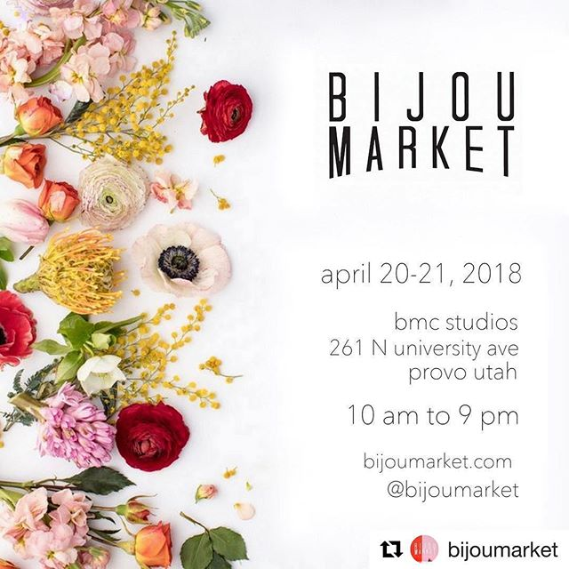 @bijoumarket #utahartscene ・・・ Our Spring show is coming up! 🌿Come peruse 60 handmade, vintage and curated shops all under one roof April 20-21 from 10-9 pm. 🌿 Follow @bijoumarket for details and fun giveaways! 🌿