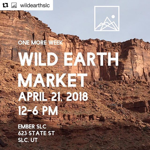 "@wildearthslc #utahartscene ・・・ One more week until we open the market doors.  See you Saturday, April 21 at @emberslc from 12-6 .  Come shop local art, get your gear repaired by @patagoniaslc , eat some farm to tacos from @faciltaqueria , and support a great cause the ""visit with respect"" Bears Ears education center.  See you there!  #wildearthslc #supportlocalart #slc #artistmarket #slcartist #friendsofcedarmesa"