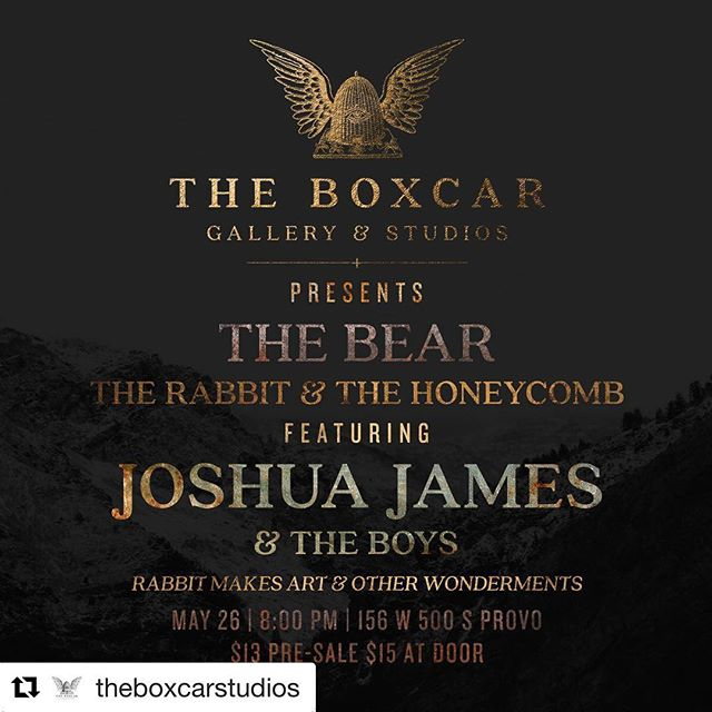 #Utahrtscene @theboxcarstudios ・・・ It's going to be a great night 🌙 Don't forget to snag your pre-sale tickets now. Link in bio. See you Saturday ✨