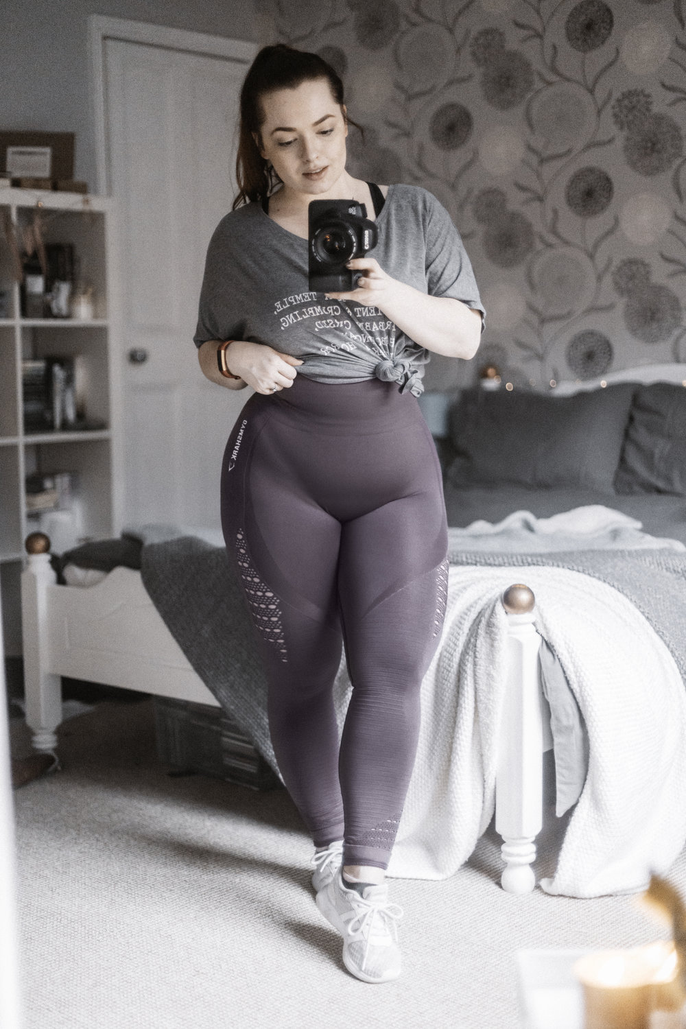 SEAMLESS ENERGY HIGH WAISTED LEGGINGS - COLOUR : Purple WashRATING : ★★★✩✩FROM : GymSharkPRICING : £42I want to be honest in my reviews and I feel as someone who doesn't necessarily have a fitness model/athletic body I can be someone relatable to everyday girls and women who follow suit with a similar figure. So today I'm reviewing the GymShark Seamless High Energy Leggings.Taking them out the bag and instantly loved the material, the colour was beautiful so I had high hopes. So as recommended I sized up as prior to release we were told these have a heavy compression. So that's what I did I sized up, it still felt like a workout trying to get them on and the first thing I noticed when they were on... my underwear, it was pretty much blaring out at me (could just wear nude). Putting that aside the feel of them on felt nice, I was definitely compressed in but again another thing blaring at me was my crotch, the cut did not suit or make that area forgiving whatsoever, I felt like you could see way too much that what was needed—however no camel toe.