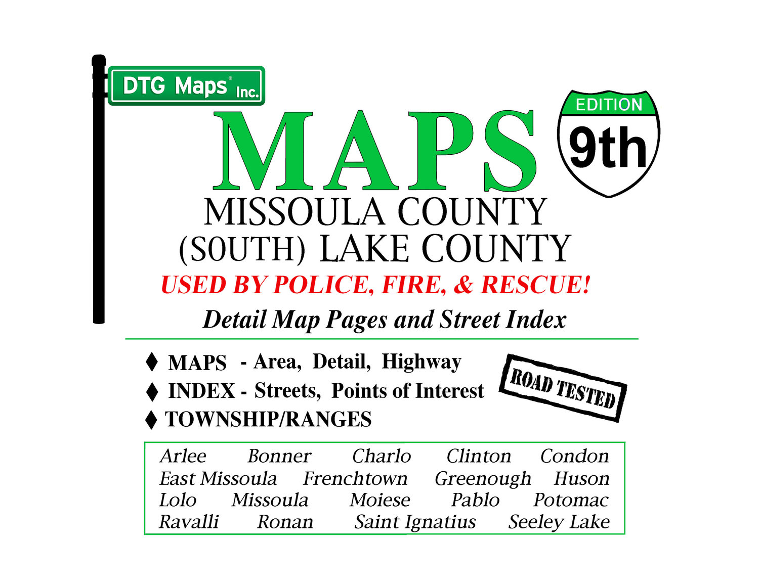 Montana missoula county clinton - Missoula County S Lake County Map Book 9th Edition
