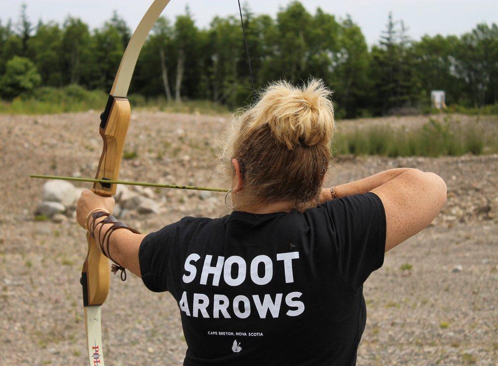 shoot arrows