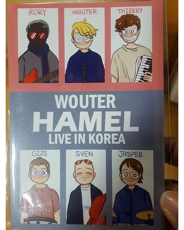 Regram from @kofi_anonymous :  You gotta love #Korean #fans #lol! What a cool #postcard! Looking forward the next couple of gigs ! 😎🎸🎵🎙🎶 . . . #tourlife #aumary #wouterhamel #asia