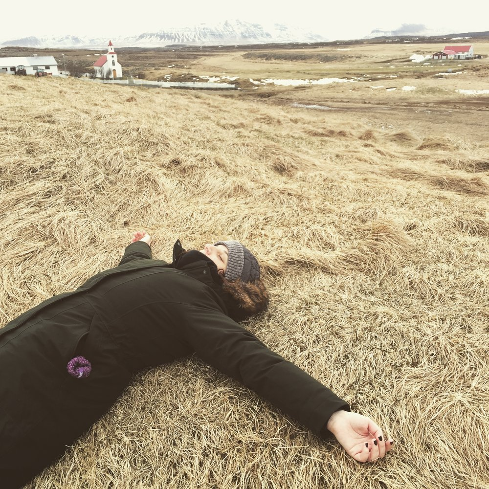 Me, in Iceland, soaking up the energy of this storied, magical land.