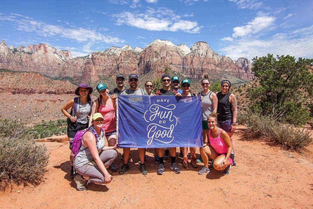 Our July 12-16 Zion National Park Tour Crew