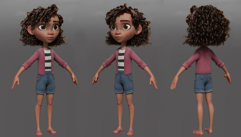 Character Modeling, look and grooming