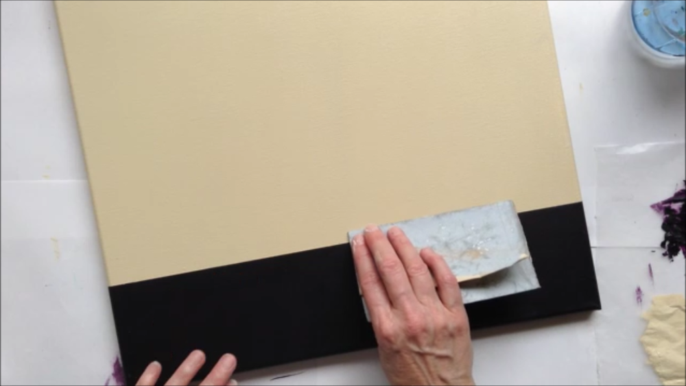 Class Tip: Sanding to create smooth edges.