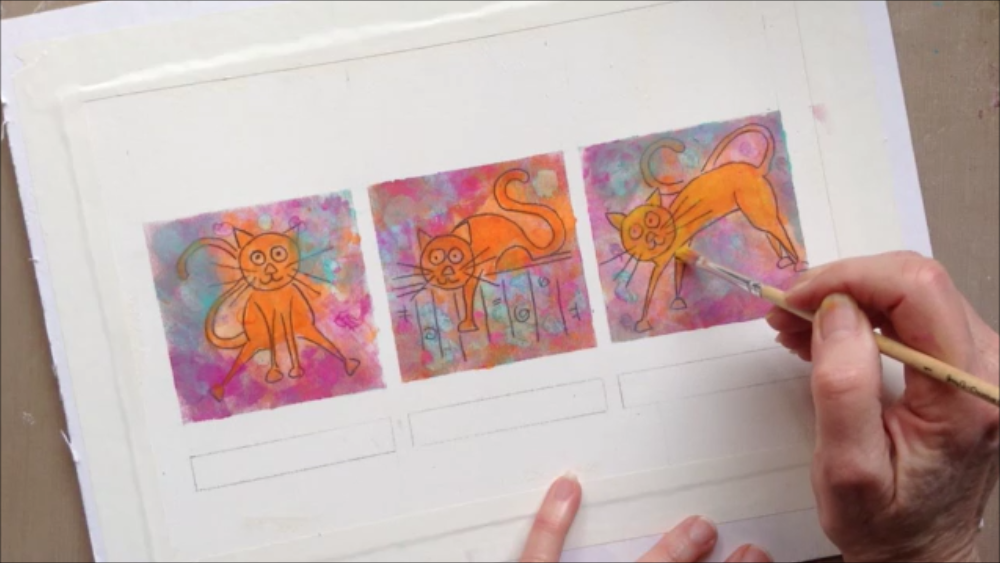 Creating whimsical cat.