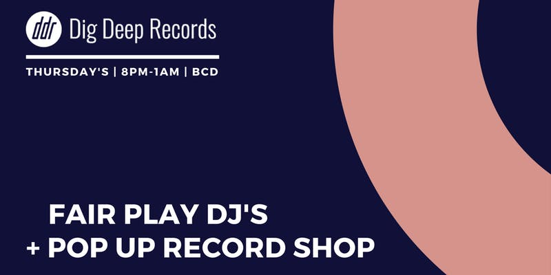 Thurs 10 January 2019 - Dig Deep Records are heading to Behind Closed Doors this Thursday for a late night session with Fair Play DJ's and pop-up record shop.For a night of Disco Boogie Funk and Soul plus the chance to have a good old rummage through DDR's latest haul of vinyl picks from their favourite dealers and DJ's, head to Behind Closed Doors on Thursday evening.Entry is free but might be suggest a tipple from BCD's well-stocked cocktail bar
