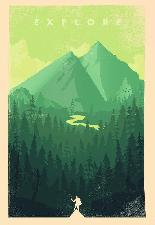 'Explore' - Illustration by Jordan Yates