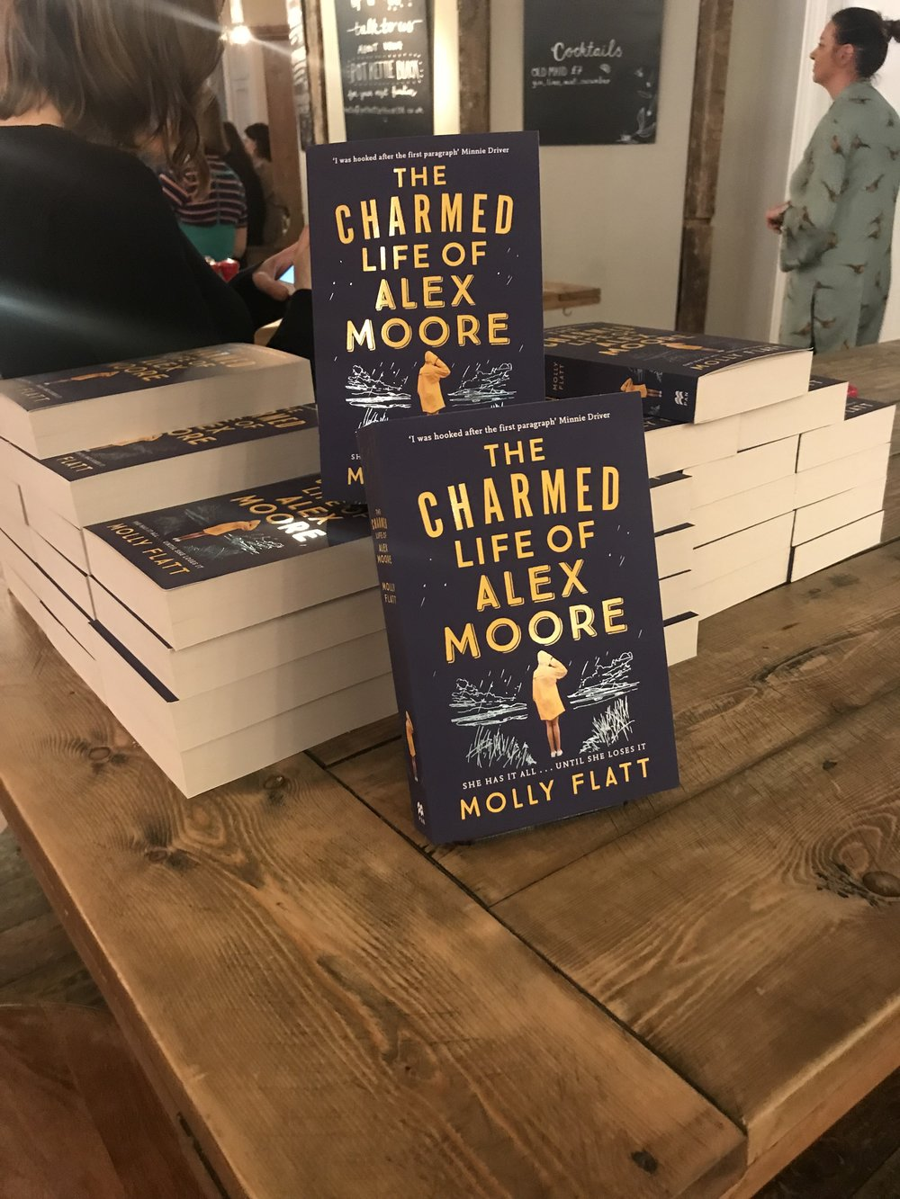 Molly Flatt's debut novel, The charmed life of Alex Moore published by Pan Macmillan