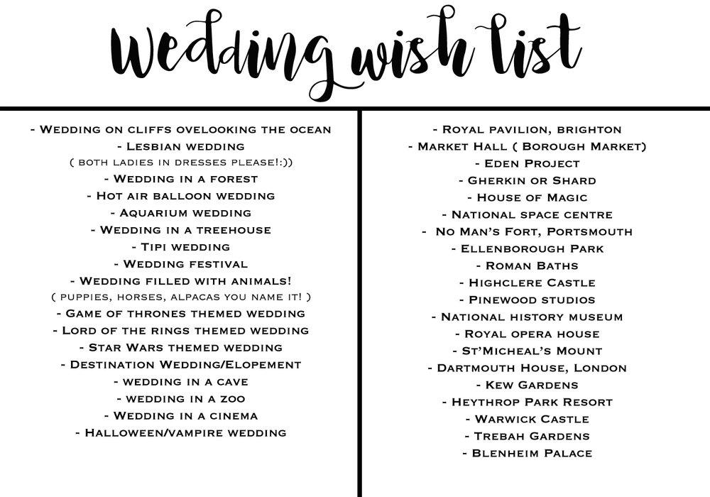 Wedding Themes And Venues Wish List Natalie Takes Wedding Photos