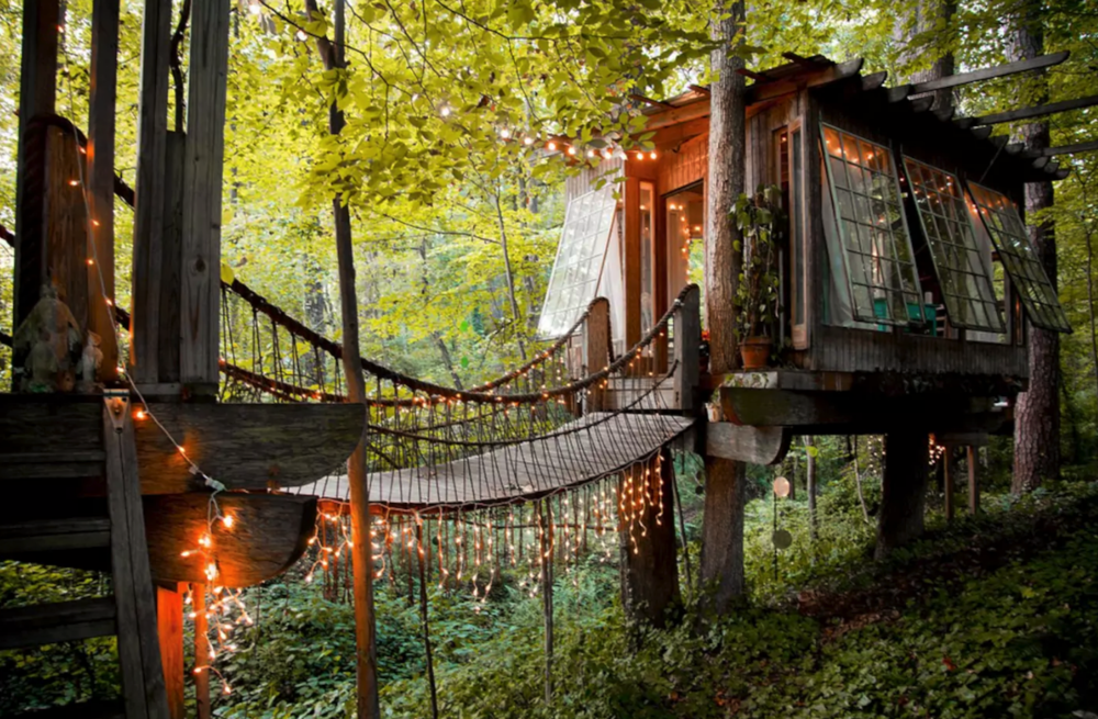 A treehouse in Atlanta is Airbnb's most-wishlisted property in the world.