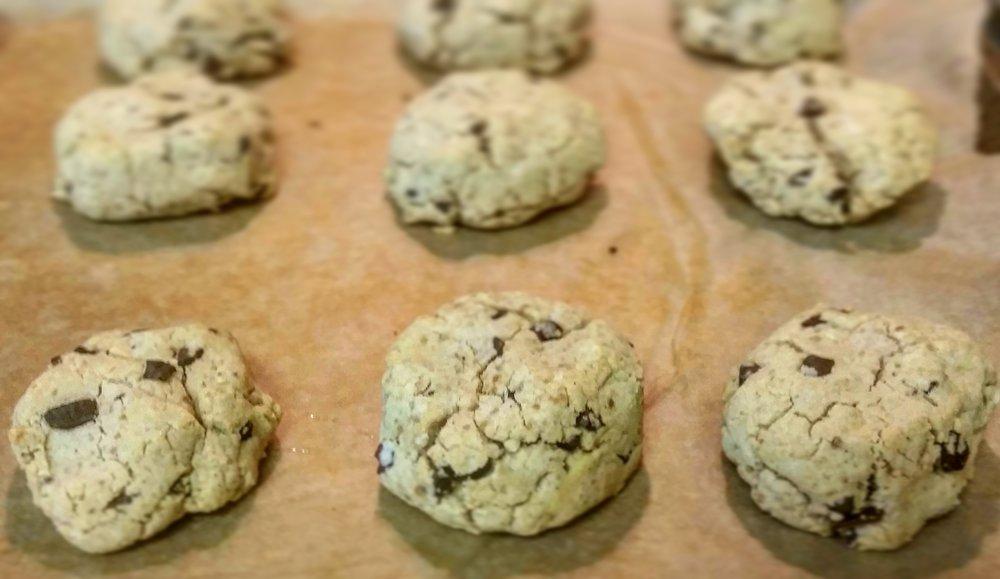 - Cassava Flour Cacao Nib Cookies