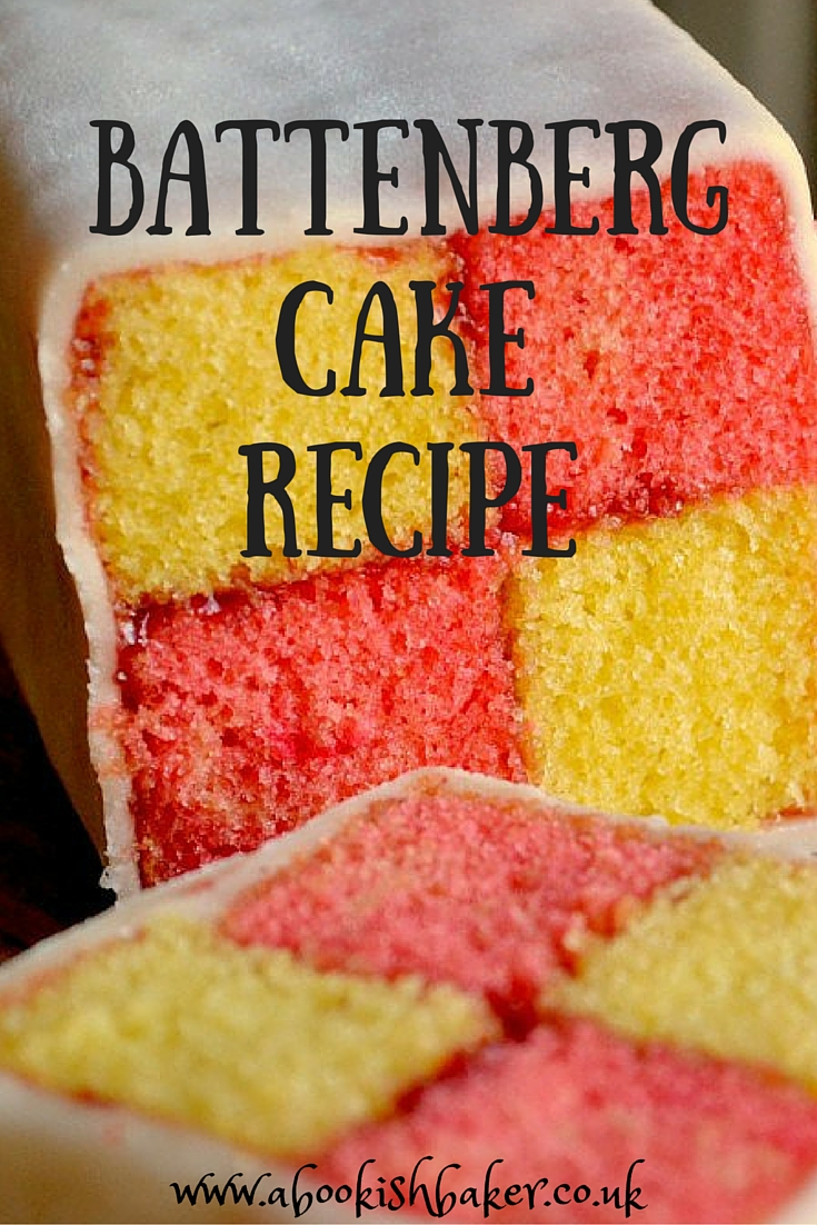 homemade battenberg cake recipe - extremely delicious. Great for bake sales, coffee mornings, tea time treats and dessert. http://abookishbaker.co.uk/