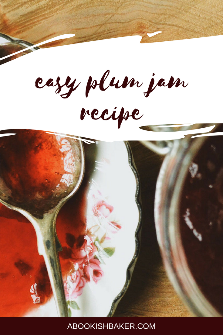 easy and delicious plum jam recipe. Perfect preserve for autumn or fall.