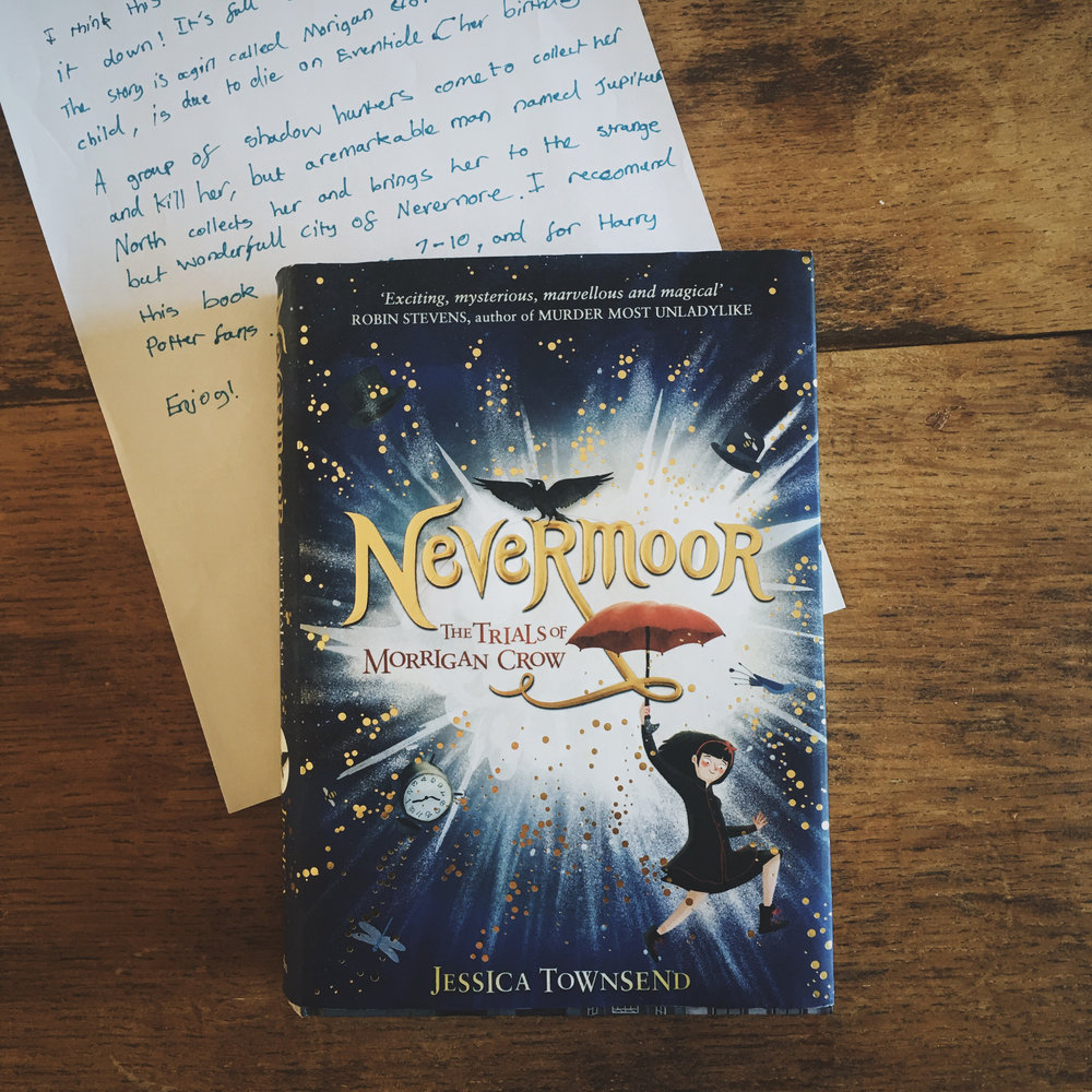 Nevermoor the trials of Morrigan Crow by Jessica Townsend
